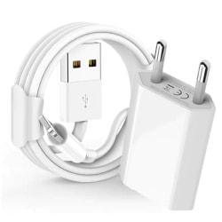 iPhone-laddare 5,6,7,8, X + Lightning kabel Vit