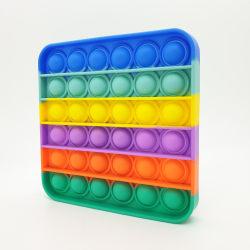 Pop it fidget toy bubble sensory push pop toy family toys Flerfärgad , Fyrkantig