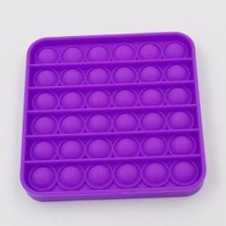 Pop it fidget toy bubble sensory push pop toy family toys Lila, Fyrkantig