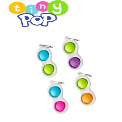Pop-it Nyckelring | Enkel Dimple | Fidget leksak Grönblå