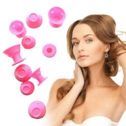 10PCS Mushroom Curler Wave Curly Hair Styling Tool Set pink