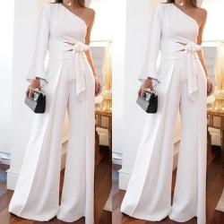 2PCS Women Fashion Summer White Suit One white S