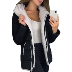 Autumn Fashion Winter Thick Warm Jacket Women Jacket black 2XL