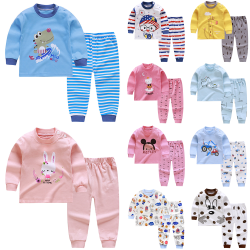 Barnpyjamas för höst och vinter, långa ärmar för att hålla varma Z04 80