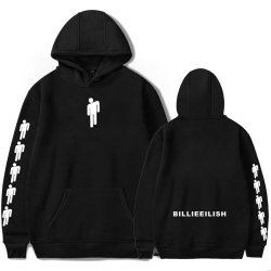 Billie Eilish Autumn Witer Fashion Unisex Street Wear Hoodies Black S