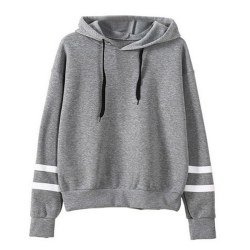 Casual All-match Parallel Bars Sweater gray M