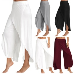 Ladies elegant casual pants with wide legs, flowing wide pants vit 2XL