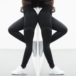 Ladies Yoga Pants Gym Leggings Sports Jogger Fitness Trousers black S