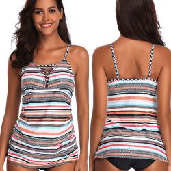 Damer Sling Bikinis Bikini split badkläder XL