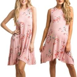 Europeisk och amerikansk damklänning lång kjol pink 3XL