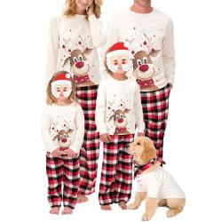 Family Edition Christmas Elk Print Family Wear Långärmad pyjamas