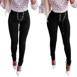 Fashion Women Slim Fit  Casual Trousers Ladies XL