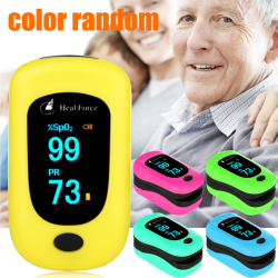 Fingertip pulse detection instrument, blood heart rate sensor Blue 35*30*60mm