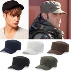 Flat topp militär mössa kadett militär mössa militär stil hatt