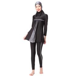 European Beauty Fashion Beach Split Swimsuit Set gray XS