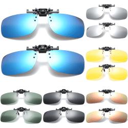 solglasögon, 3-par glasklämma, polariserade klämmor