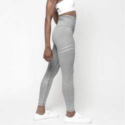 Womens Fitness Leggings Yoga Pants Gold-print Stretch Slim Pants grey M