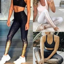 Kvinnors yogalöpningsbyxor mage kontrollerar hög midjaövning svart S