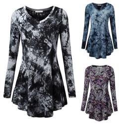 Ladies Autumn Women Shirts Tops Loose Casual Hunic black XL