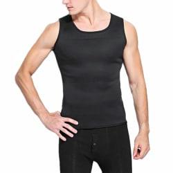 Mäns väst viktminskning tränings bastu väst svett kostym svart L