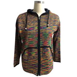 Men Hippie Hoodie Fleece Zipper Knitted Festival Hippy Jacket Multicoloured 5XL