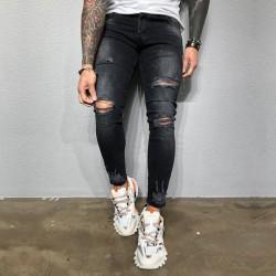 Men Pants Trousers Sweatpants Jeans Gym Running Sports Jogger Black L