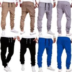 Elastiska byxor för män sportbyxor casual byxor