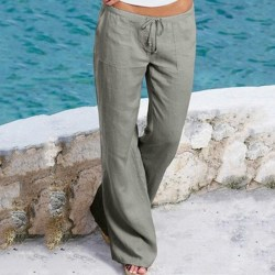 Micro-flared trousers for women, sports and leisure trousers gray M