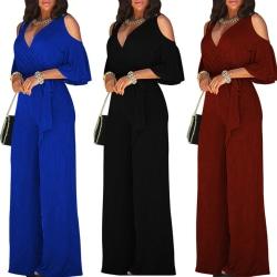New Fashion Women Strapless V-neck Long black M