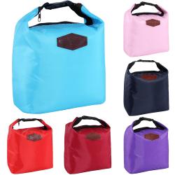 Picnic bag portable portable buckle insulation bag outdoor Navy 21*9*27cm