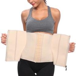 Postpartum Stomach Tummy Slimming Waist Trainer Corset Shape apricot M