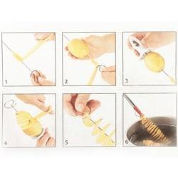 Potato Roller, Potato Chipper Spiral Potato Manual Slicer