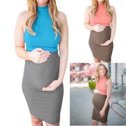 Gravida kvinnor sommarstickning Färgväst