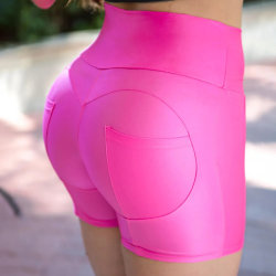Sexy Skinny Matte Track Shorts rose red L