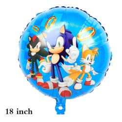 Sonic tecknad ballong födelsedagsfest levererar festdekorationer