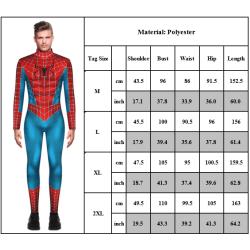 Spiderman-tryck herrhög hals långärmad jumpsuit tidvatten märke