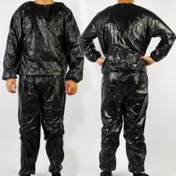 Träning för konditionviktförlusttransporterande bastukläder svart 4XL