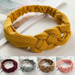 Wide side cross hair band, can be used for hair styling, yoga turmeric