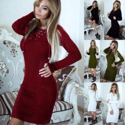 Ärmlös klänning med europeiska och amerikanska mode knappar med slitsar red XL