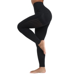 Women Fitness Gym High Waist Hip Yoga Pants Workout Clothing black M