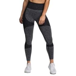 Women's High Waist Knitted Yoga Fitness Pants Sweatpants black S