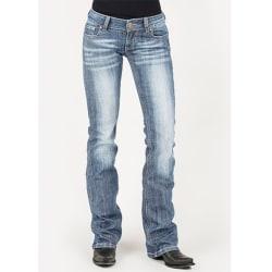 Women Ladies Retro Denim Jeans Straight Leg Bottoms Cowboy Pants Light Blue M