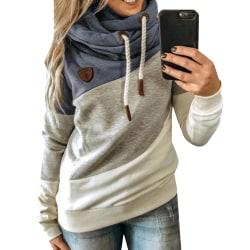 Kvinnor löst långärmad Casual Hooded Casual , Pullover T-shirt
