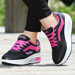 Women's casual sneakers non-slip breathable sneakers black 38