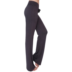 Women's high waist loose running fitness yoga pants dark grey S