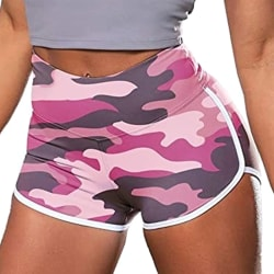 Women's Sweatpants Fitness Pants Running Pants Yoga Shorts pink 2XL
