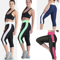 Woman's high waist running fitness yoga sport yoga pants Black red S