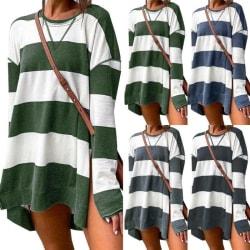 Kvinnor Sweatshirts Randigt tryck Långärmad Mode Casual