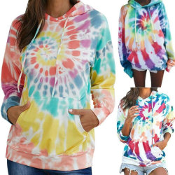 Womens Colorful Tie Dye Sweatshirt Casual Pullover Fashion Colorful S