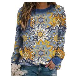 Womens Winter Long Sleeve Sweater Shirts Warmer Jumper Pullover Blue 5XL